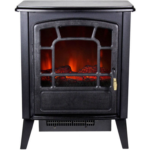 Warm House RSF-10324 Bern Retro-Style Floor Standing Electric Fireplace
