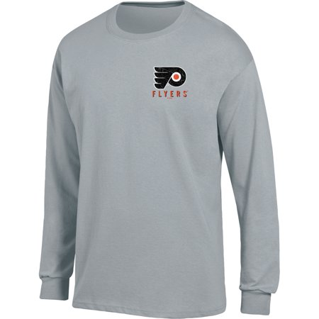 Philadelphia Flyers Ice (Men's Heathered Gray Philadelphia Flyers Back Hit Long Sleeve T-Shirt)