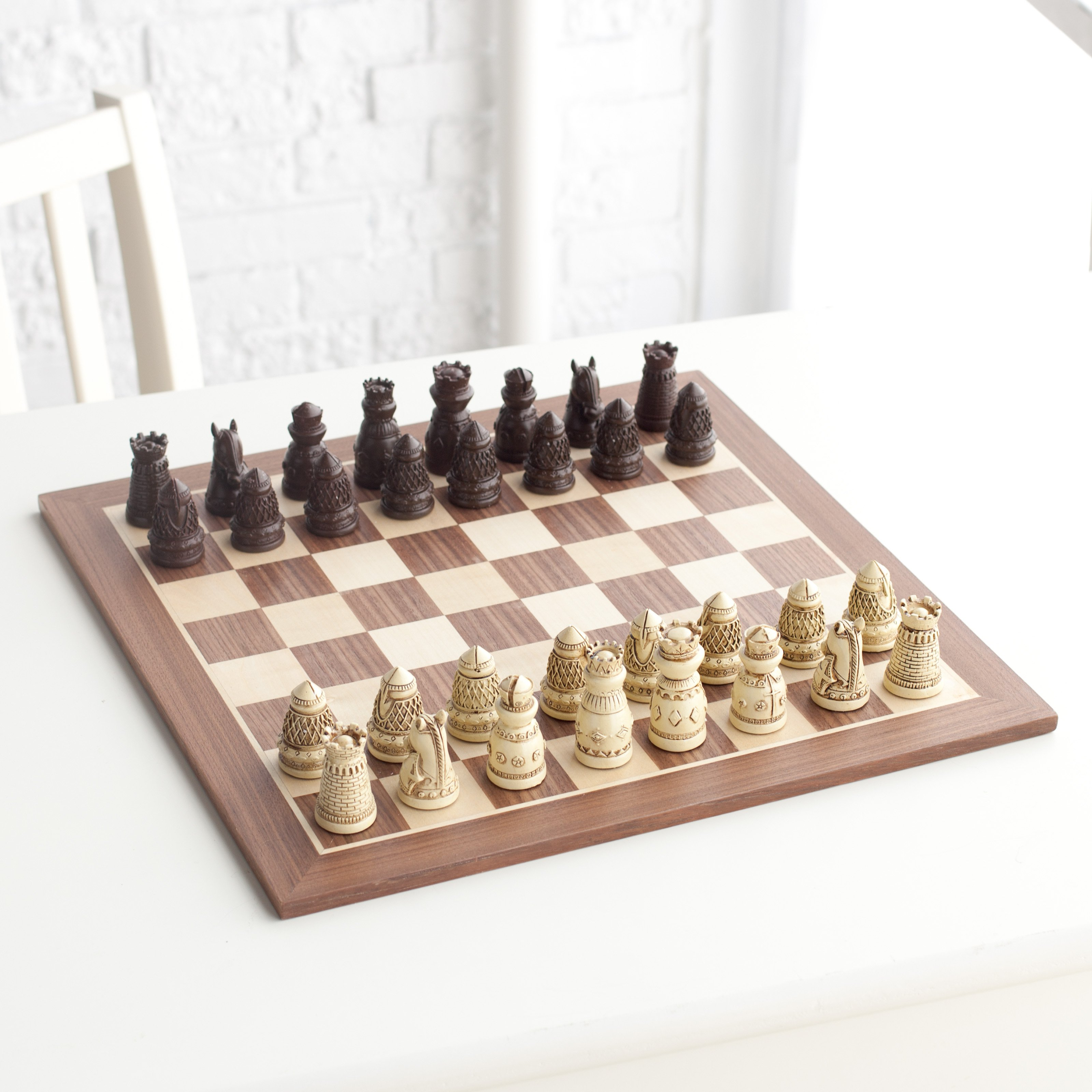 Medieval Artisan Polystone Chess Set by Wood Expressions