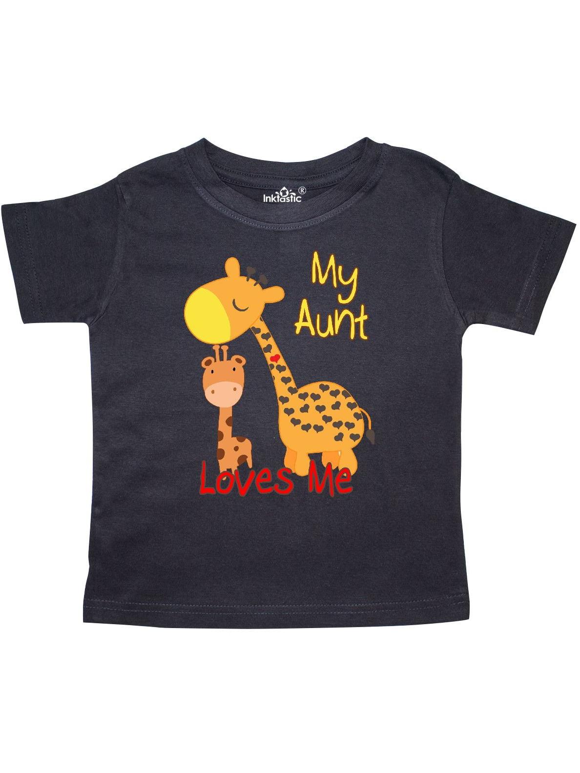 My Aunt Loves Me Giraffe Toddler T-Shirt