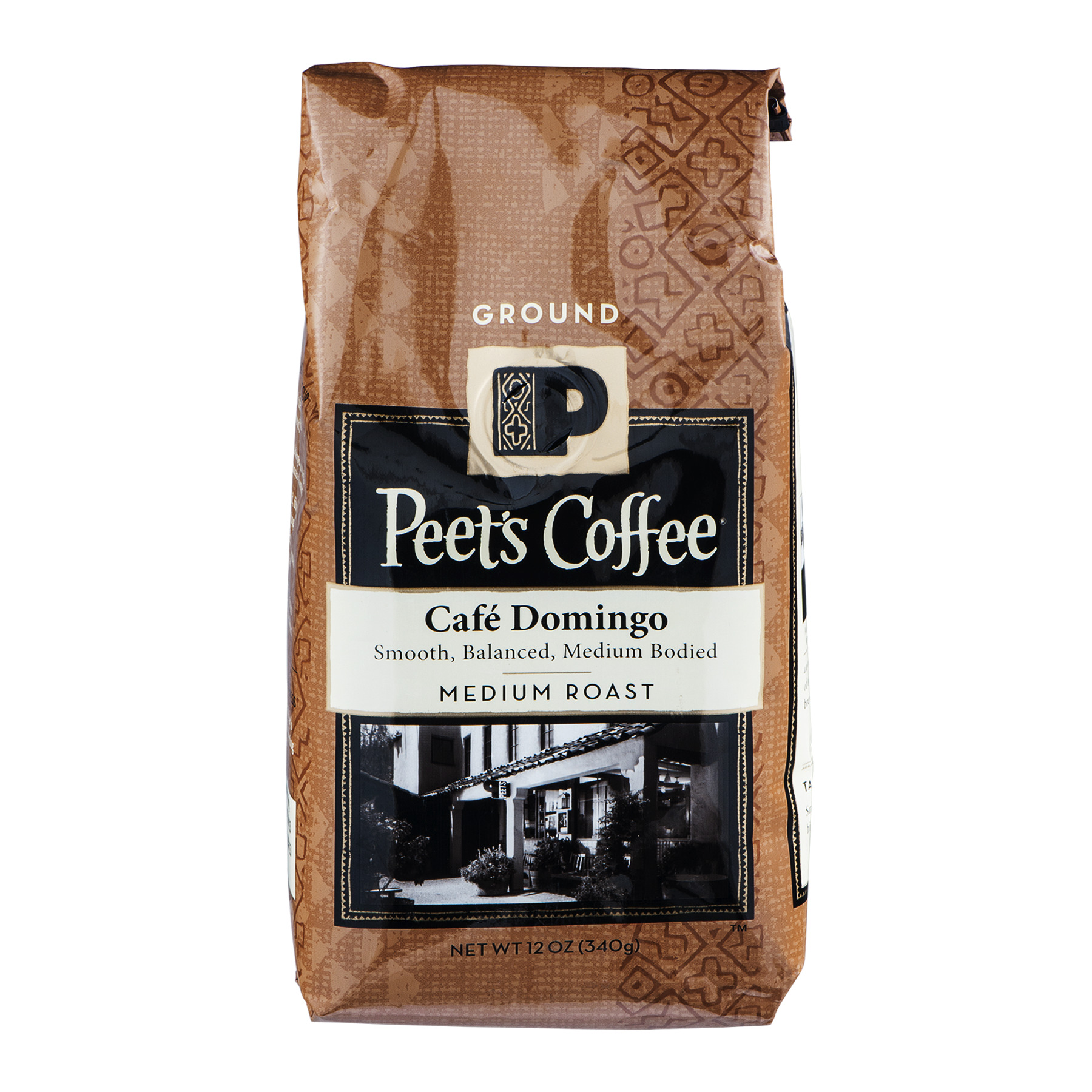 Peet's Coffee Cafe Domingo Medium Roast Ground, 12.0 OZ