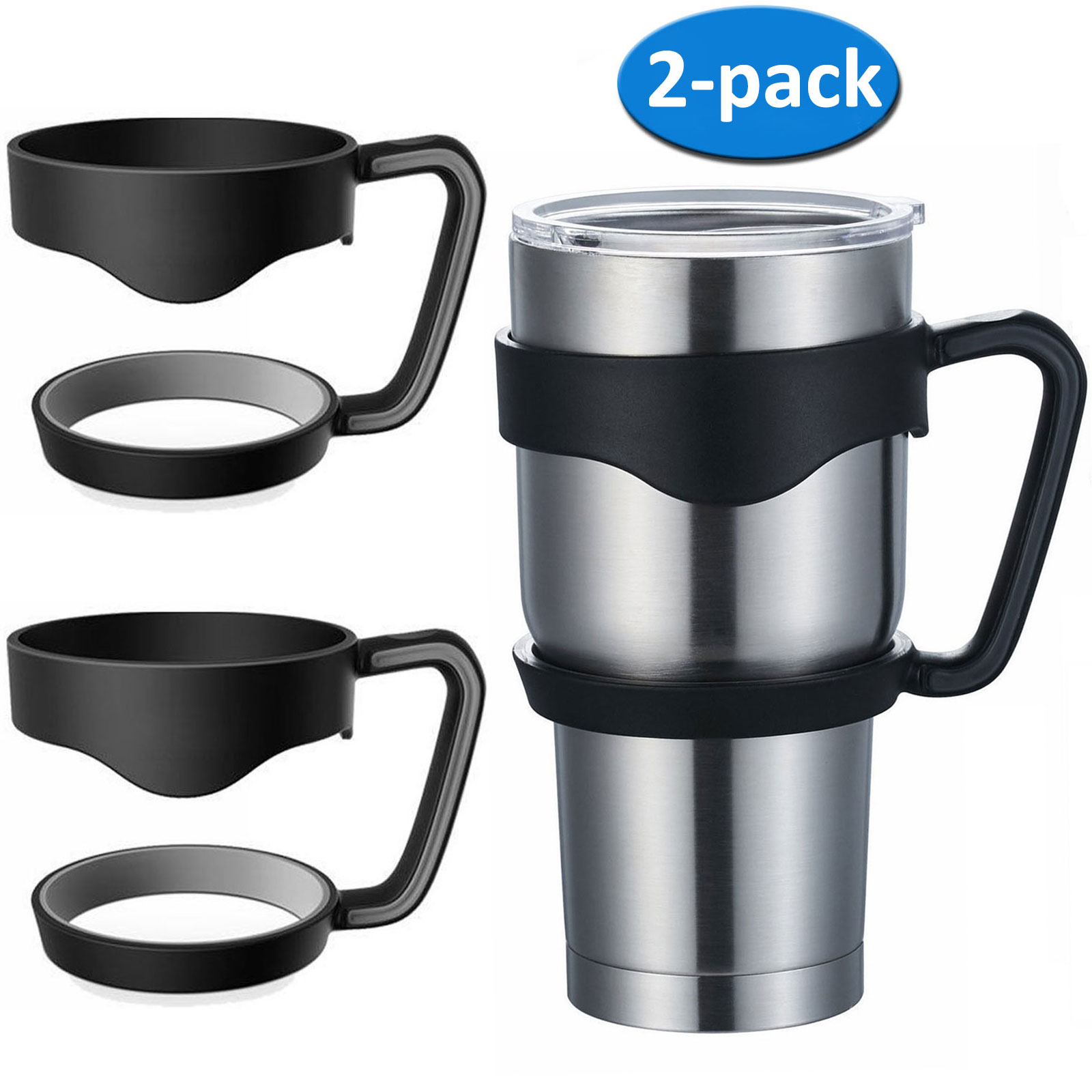 EEEKit 2Pcs Handle for Ozark Trail 30-Ounce Tumbler, Yeti Rambler 30 oz,RTIC 30 oz,Sic Rambler Travel Cup