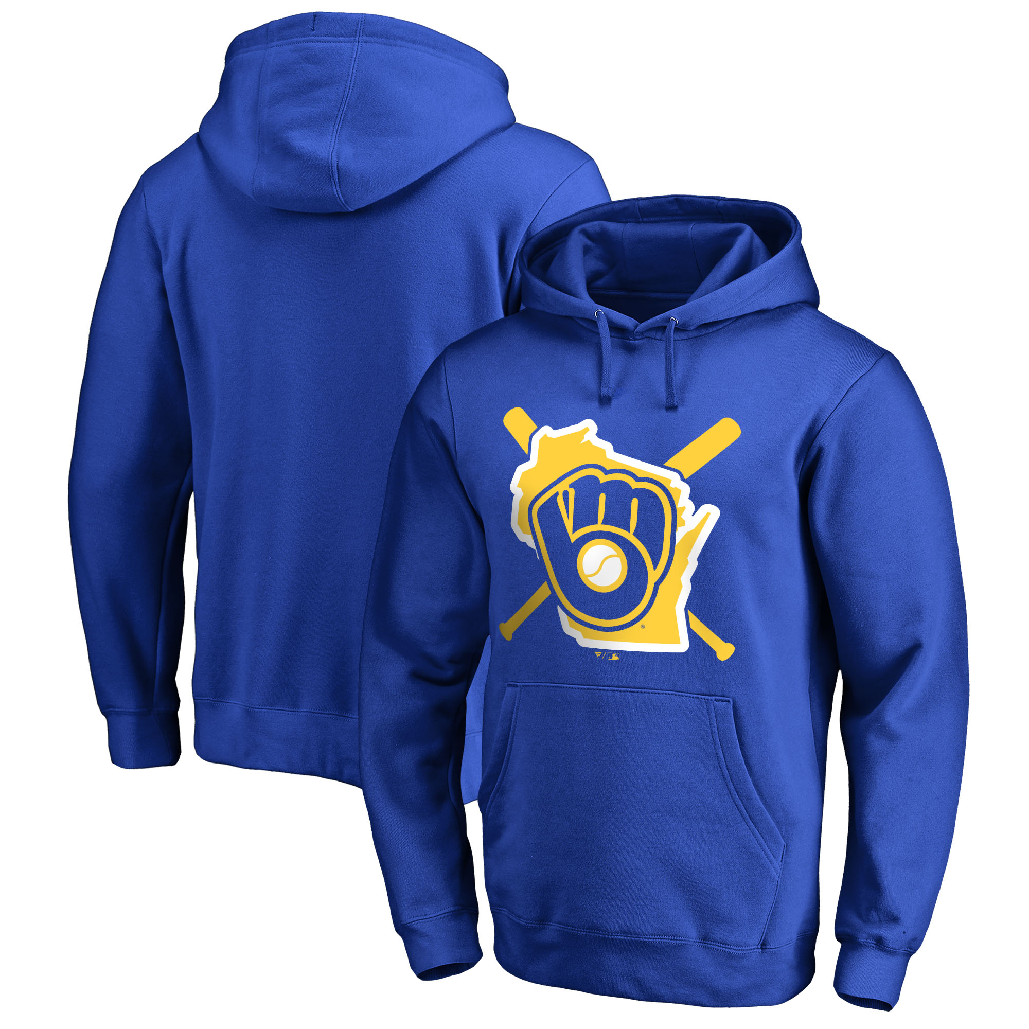 Milwaukee Brewers Fanatics Branded Hometown Collection Brew Town Pullover Hoodie - Royal