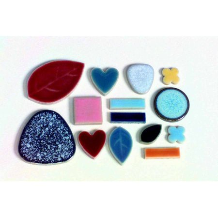 Mosaic Tiles For Crafts (School Specialty Bulk Assorted Shape Mosaic Tile, 0.37
