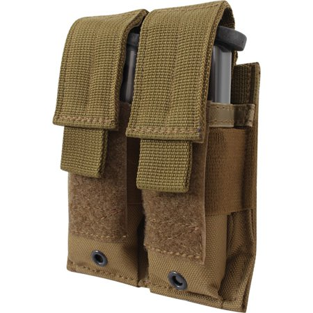 Coyote Brown - Tactical MOLLE Double 9MM Pistol Mag Pouch