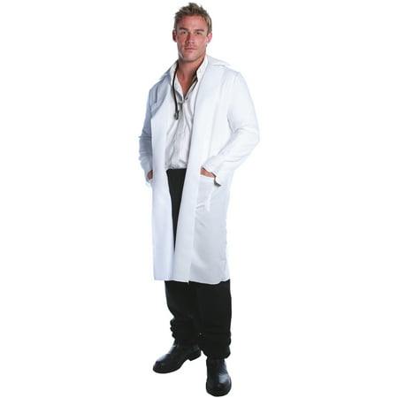 Lab Coat Adult Halloween Costume](White Fur Coat Costume)