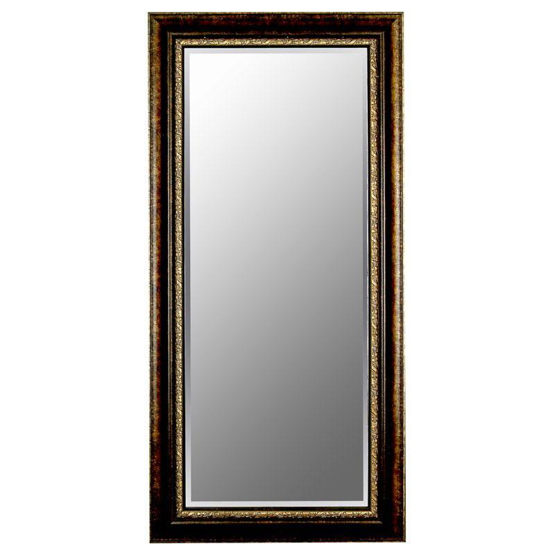 Rubbed Copper & Bronze Mirror