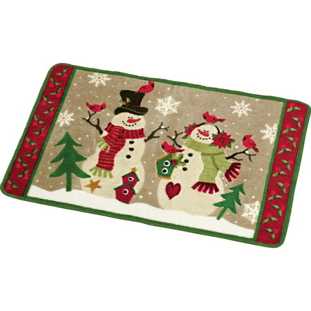 Country Snow Couple Bath Rug Country Bath Four Port