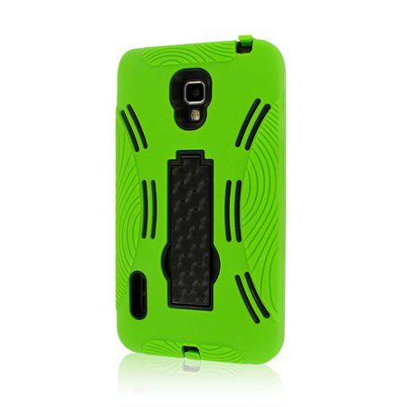 MPERO IMPACT XL Series Kickstand Case for LG Optimus F7 US780 - Neon Green (Lg Optimus F7 Rubber Phone Case)