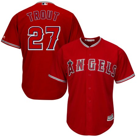 Mike Trout Los Angeles Angels Youth Official Cool Base Player Jersey - Red