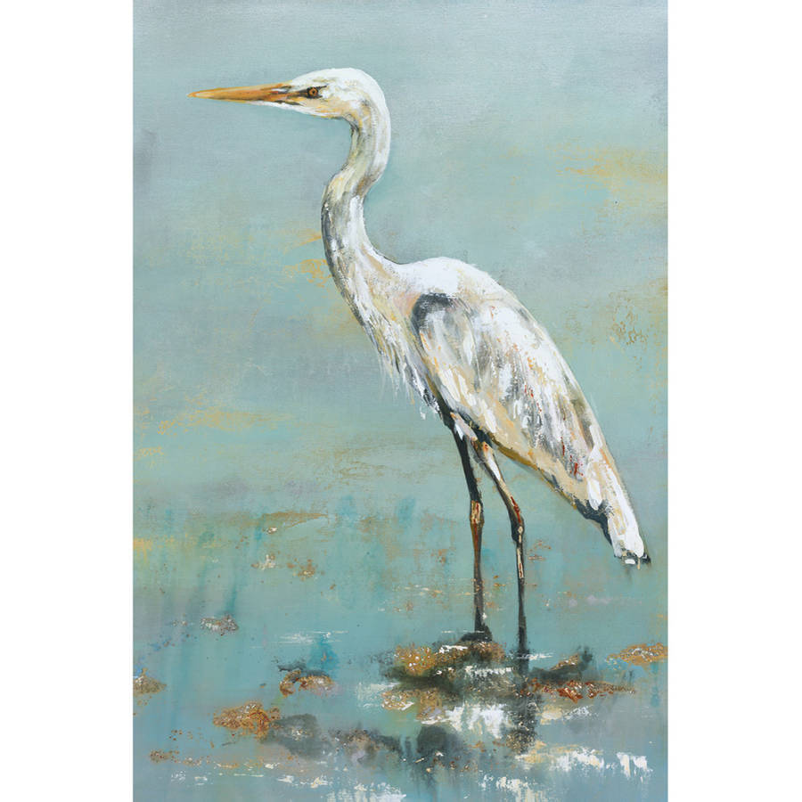 "Portfolio Canvas Decor ""Herons II"" by Georgie Framed and Stretched Ready-to-Hang Canvas"
