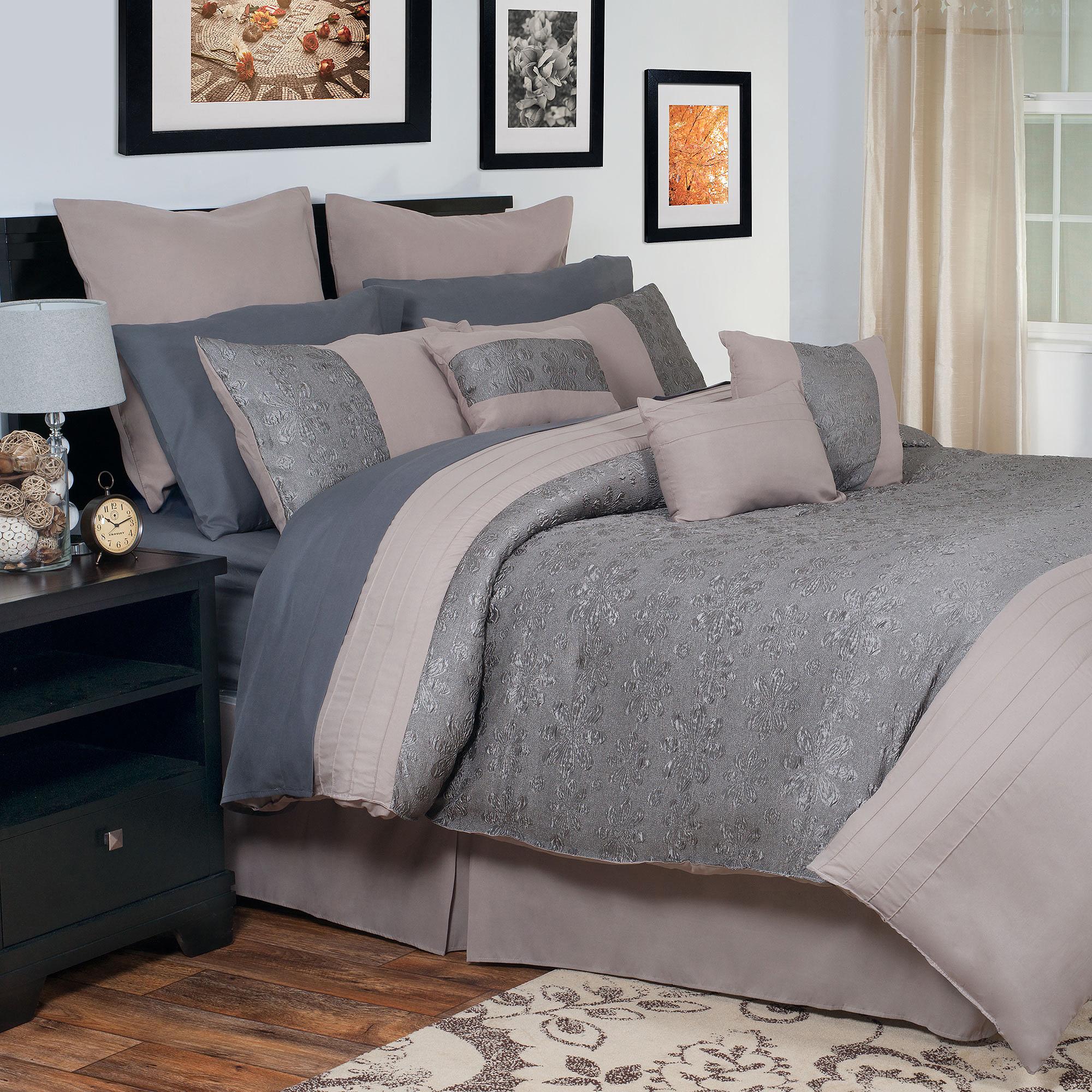 Somerset Home Leah Oversized Embroidered Bedding Comforter Set