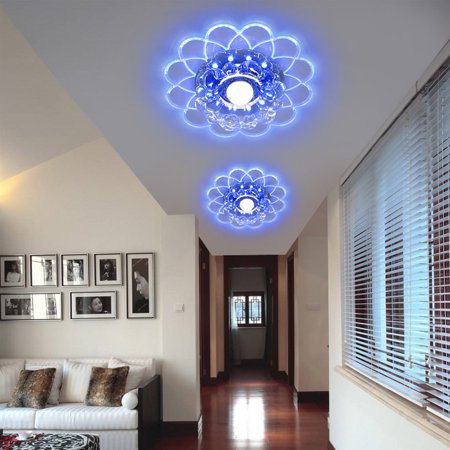 5W LED Crystal Ceiling Light Fixture Home Decor Pendant Lamp Lighting Chandelier