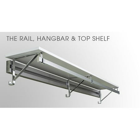 Arrange A Space Rail & Hangbar with 12 in. Top Shelf - 24-36 in.