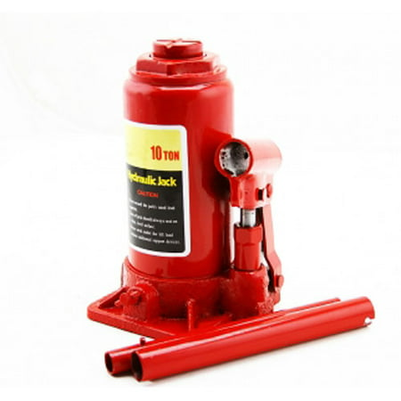 "Portable 10 Ton Hydraulic Bottle Car Jacks Automotive Tool 15"" Lift Height"