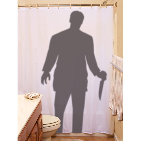 Scary Homemade Outside Halloween Decorations (Scary Stalker Curtain Prop 70