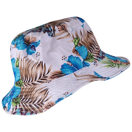 223eeda93ad Enimay - Enimay Unisex Printed Colored Bucket Hat Patterned Summer Sun Caps  Floral Blue Size S