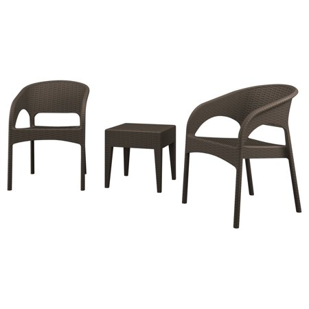 Compamia Panama Patio Lounge Chairs - Set of 2 with Side Table ()