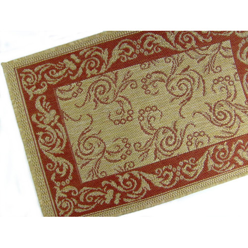 American Mills Scroll Terracotta Indoor/Outdoor Rug