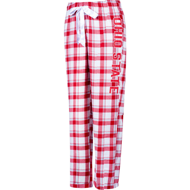 Women's Scarlet/White Ohio State Buckeyes Flannel Dorm Pajama Pants