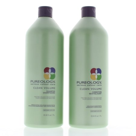 Pureology Clean Volume Shampoo and Conditioner Set 1000ml/33.8oz Each