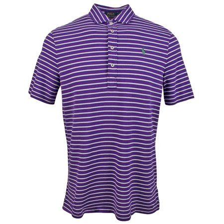 Polo Ralph Lauren Men's Feather Weight Mesh Classic Fit Striped Polo (Polo Ralph Lauren Striped Knit Dress Shirt)