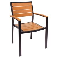BFM Seating Largo Aluminum Stackable Patio Dining Chair
