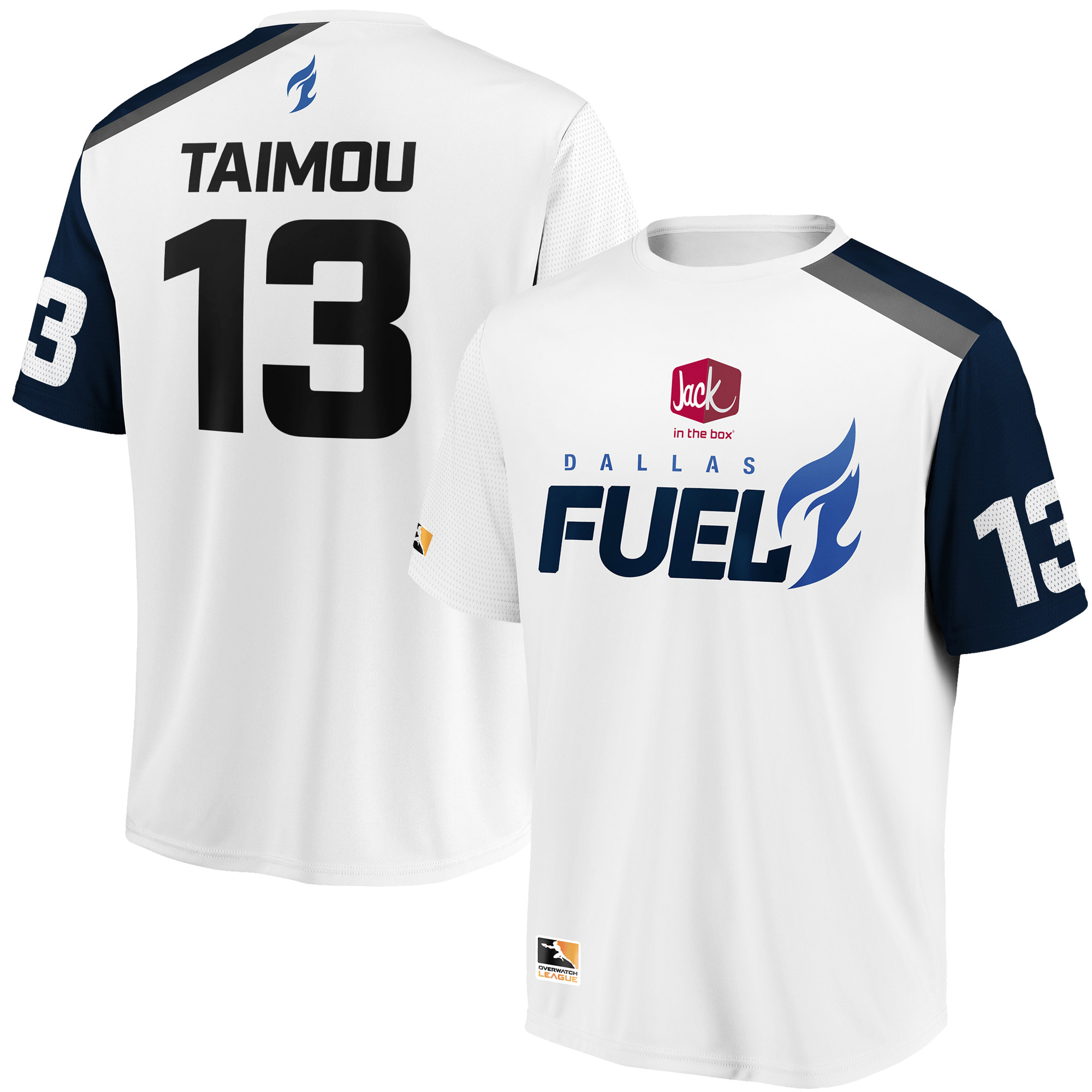 Taimou Dallas Fuel Overwatch League Replica Away Jersey - White