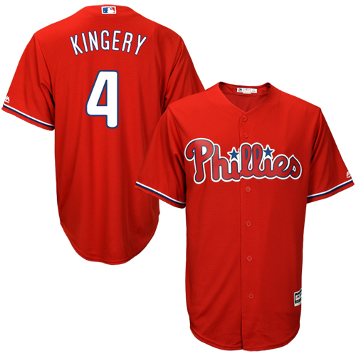 Scott Kingery Philadelphia Phillies Majestic Fashion Official Cool Base Player Jersey - Scarlet