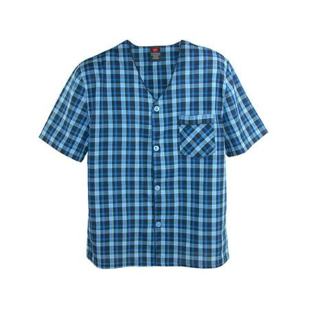 Hanes Men's and Big Men's Short Sleeve and Shorts Woven Pajama Set