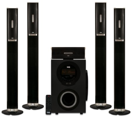 Acoustic Audio AAT3002 Tower 5.1 Home Theater Bluetooth Speaker System with 8