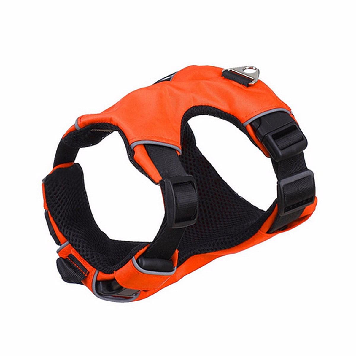 Mesh Nylon Padded Reflective Safety Pet service dog vest Dog Puppy Cat Vest Harness Collar Chest Strap