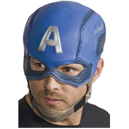 Adult's Captain America Civil War Captain America Full Mask Costume Accessory - Captian America Mask