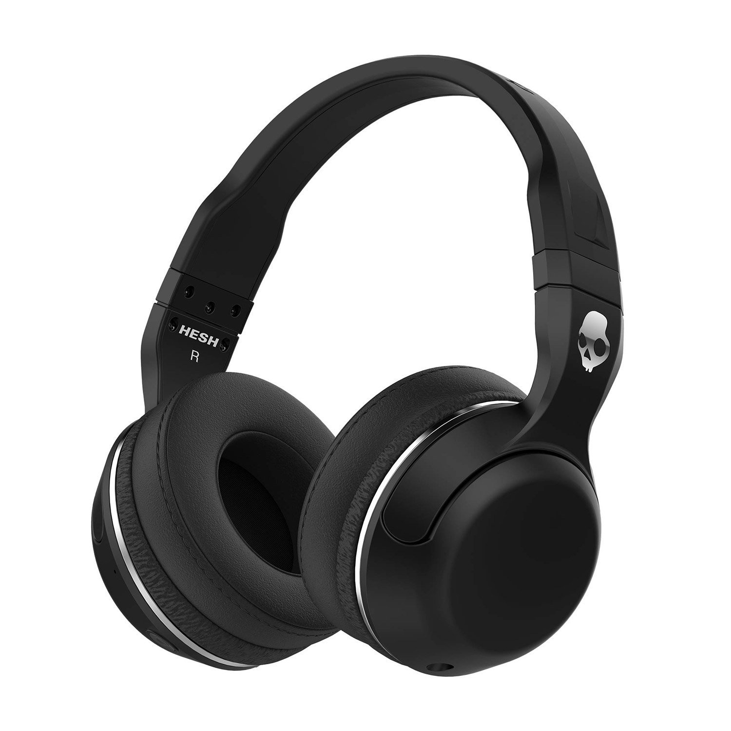 Skullcandy Hesh 2 Bluetooth Wireless Over-Ear Headphones with Microphone, Supreme Sound and Powerful Bass, Rechargeable Battery, Soft Synthetic Leather Ear Cushions, Black (New Open Box)