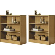 Mainstays Wide 3 Shelf Bookcase Set Of 2 Mix And Match