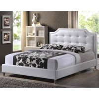 Baxton Studio Carlotta Modern Bed With Upholstered Headboard Multiple Sizes Multiple Colors