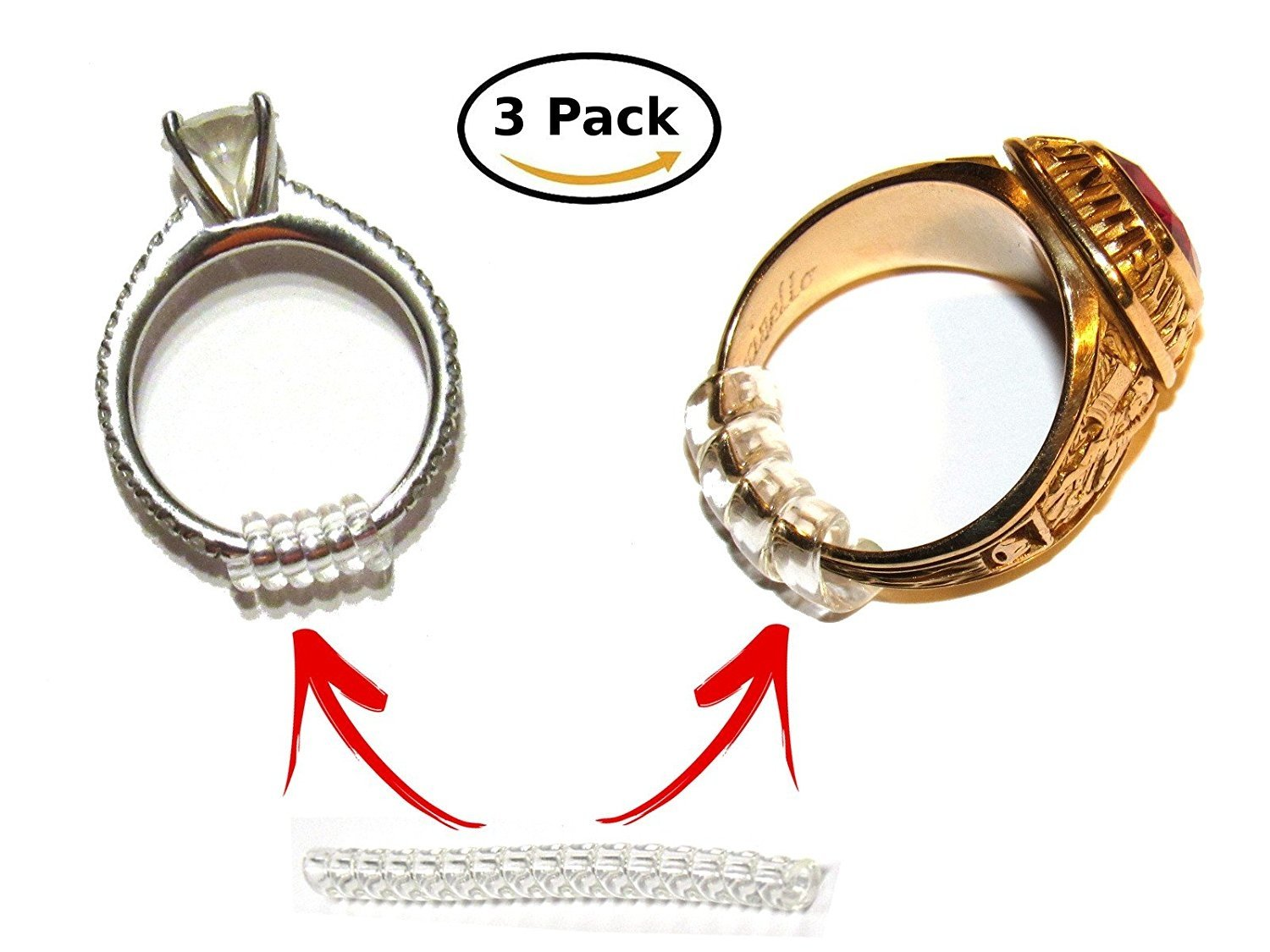 The Original Ring Adjusters Assorted Sizes 3 X Ring Snuggies