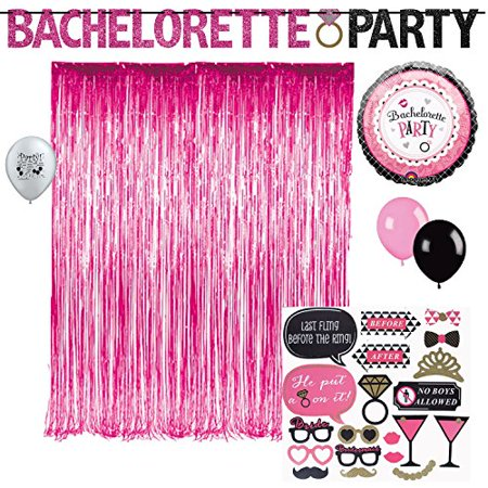 Bachelorette Party Photo booth props balloons decoration kit
