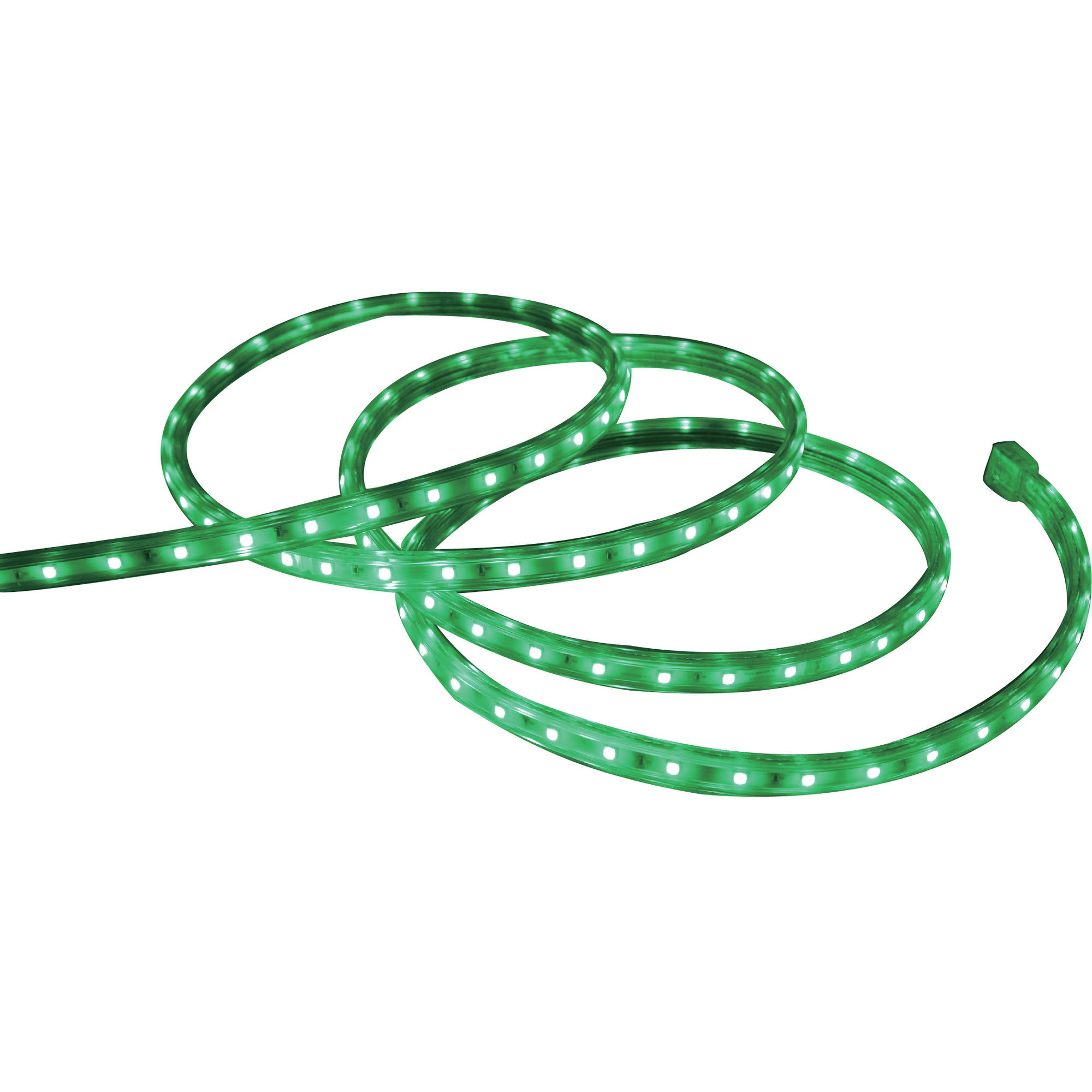 Holiday Time Christmas Lights Green LED Tape Light, 240-Count / 19.6 ...