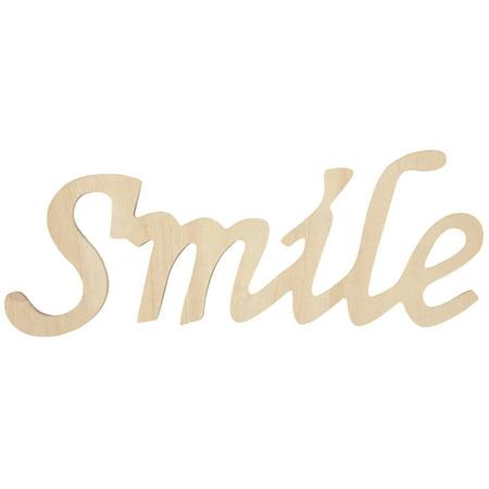 """Wood Script Words-Smile 3""""X7"""" - image 1 de 1"""
