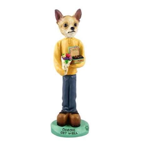 No.Doog06B92 Chihuahua Tan/White Get Well Doogie Collectable Figurine