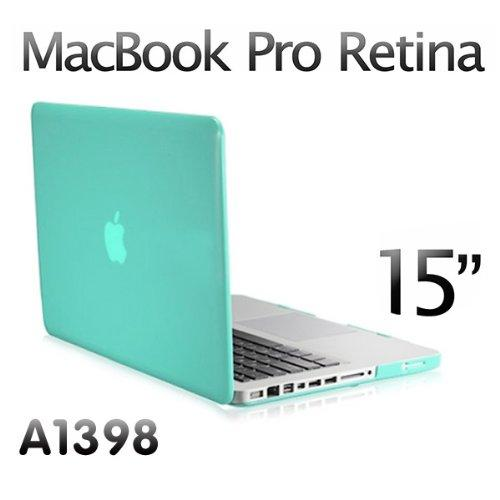 """Agptek 3in1 Sky Blue Rubberized Hard Case Screen Cover Shell for Apple Macbook Pro 15 15.4"""" Retina Display A1398"""