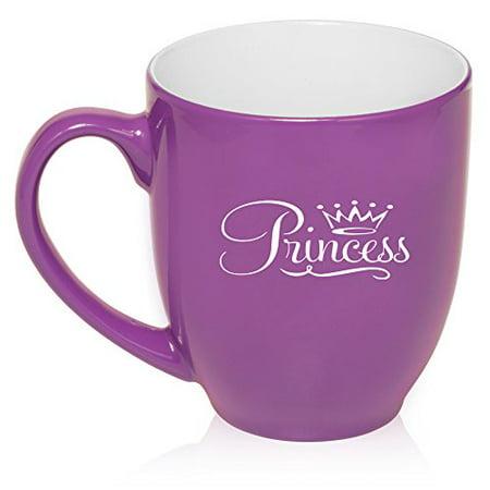 16 oz Large Bistro Mug Ceramic Coffee Tea Glass Cup Princess Fancy (Purple)](Princess Cups)
