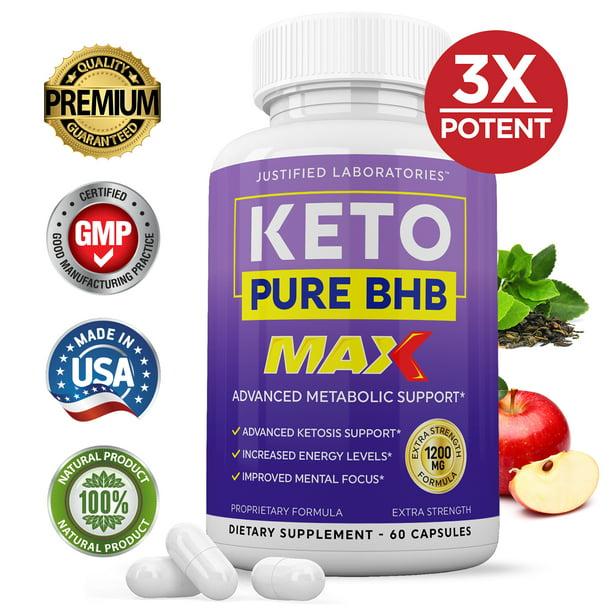 Keto Pure BHB 1200MG Keto Diet Pills Real BHB Salts Advanced Ketogenic Supplement Exogenous Ketones Ketosis Weight Loss Fat Burner Carb Blocker Appetite Suppressant Men Women 30 Day Supply 1 Bottle