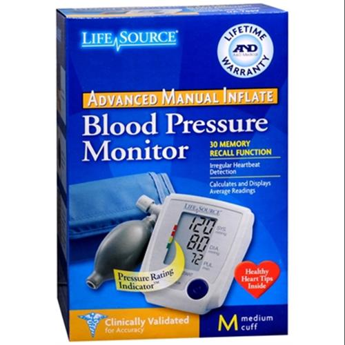 LifeSource Advanced Blood Pressure Monitor Manual Inflate UA-705V 1 Each (Pack of 3)