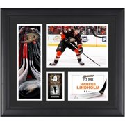 """Hampus Lindholm Anaheim Ducks Framed 15"""" x 17"""" Player Collage with a Piece of Game-Used Puck"""