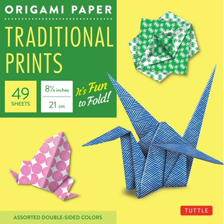 """Origami Paper - Traditional Prints - 8 1/4"""" - 49 Sheets : Tuttle Origami Paper: High-Quality Large Origami Sheets Printed with 6 Different Patterns: Instructions for 6 Projects Included"""