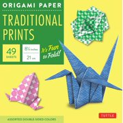 "Origami Paper - Traditional Prints - 8 1/4"" - 49 Sheets : Tuttle Origami Paper: High-Quality Large Origami Sheets Printed with 6 Different Patterns: Instructions for 6 Projects Included"