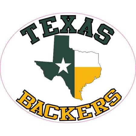 4inx3 25in oval texas backers sticker vinyl football sports decal stickers