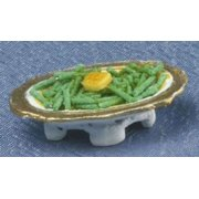 Dollhouse Serving Dish Of Green Beans